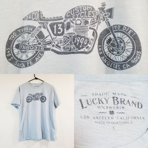 Lucky Brand Motorcycle Shirt Custom Cycles
